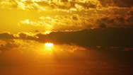 Stock Video Footage of sun and clouds sunset timelapse