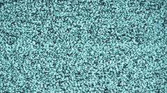 Teal tv static noise Stock Footage