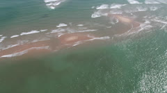 Helicopter POV of Sandbar Stock Footage
