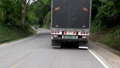 Trucks Driving, Vehicles, Tractor Trailers, Roads Stock Footage