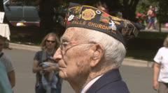 World War II Veteran Stock Footage