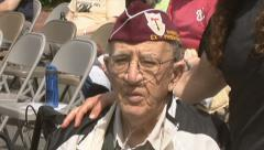 World War II Veteran Stock Footage