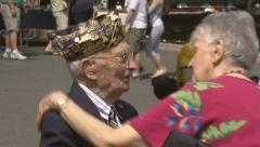 World War II Veteran - stock footage