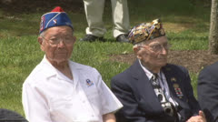 World War II Veterans Stock Footage