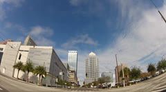 Downtown Tampa N on Florida 2 minutes - stock footage