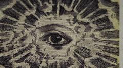 Gravure - All Seeing Eye - Rack Focus Stock Footage