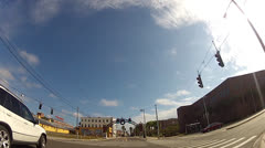 Driving in Ybor Low Angle 1 minute Stock Footage