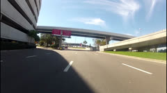 POV driving tour of Tampa Airport Stock Footage