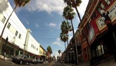 Low Angle POV driving in Ybor City 1 minute Stock Footage