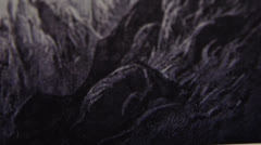 Gravure - Apocalypse -  Angel - Dürer - Tilt Up Stock Footage