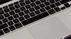 Mouse pad hand keyboard2 - stock footage