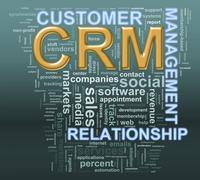 Crm customer relationship managment wordcloud Stock Illustration