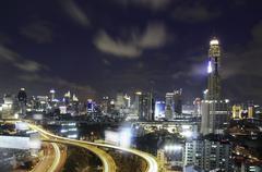 Skyline of city Stock Photos