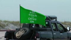 Chive on flag Stock Footage