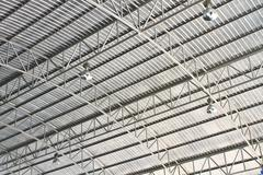 roof of modern storehouse - stock photo