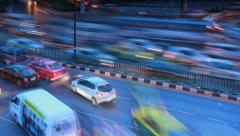 Traffic in the evening Stock Footage