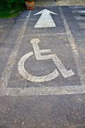 More handicapped street Stock Photos