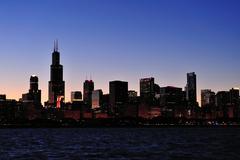 Chicago siluetti Kuvituskuvat