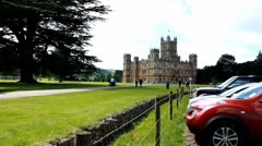Highclere Castle & general public 3 Stock Footage