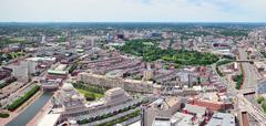 Boston kaupunkien rakennukset Kuvituskuvat