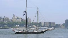 Sailboat - stock footage
