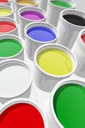 Cans of paint Stock Illustration
