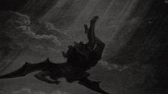 Gravure - Apocalypse -  Dürer - Falling Angel Stock Footage