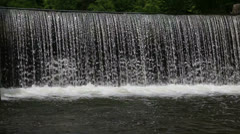Waterfall at the old mill Cornish New Hampshire Stock Footage