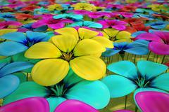 Field of flowers. Stock Illustration