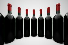 Wine bottles. - stock illustration