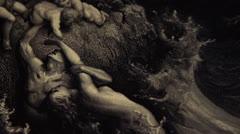 Gravure - Apocalypse -  Dürer - Pan Right Stock Footage