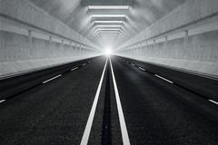 Tunnel road. - stock illustration