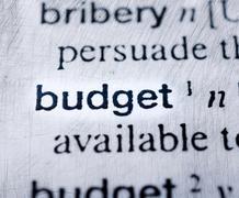 budget word - stock photo
