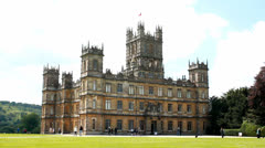 Highclere Castle & general public 5 - stock footage