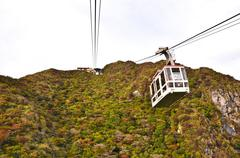 Cable car on the mountain  at national park unzen, obama, japan Stock Photos