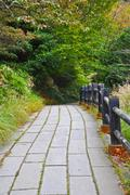 walkway in at unzen mountain at obama, japan - stock photo