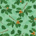 Seamless background with oak branches Stock Illustration