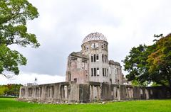 nuclear memorial at hiroshima, japan - stock photo
