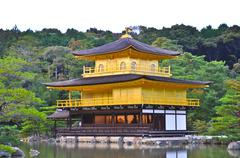 golden temple at kyoto, japan - stock photo