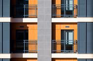 Stock Photo of new resort apartment house detail