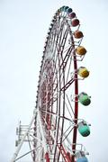 colorfull ferris wheel at odaiba, japan - stock photo
