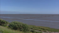 Stock Video Footage of Wadden Sea - land reclamation - pan