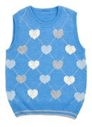 Baby blue knitted vest Stock Photos