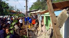 Demolition of Stalls at Station - stock footage