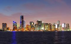 miami night scene - stock photo