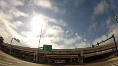 Time Lapse Driving Downtown Tampa 2 minutes Stock Footage