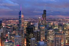 Chicago skyline panoraama ilmakuva Kuvituskuvat