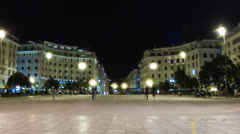 Timelapse of Aristotelous Square at night, Stock Footage