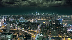 New York City at Night Stock Footage