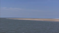 Wadden Sea - sailing along the coastal area and sandbank Stock Footage